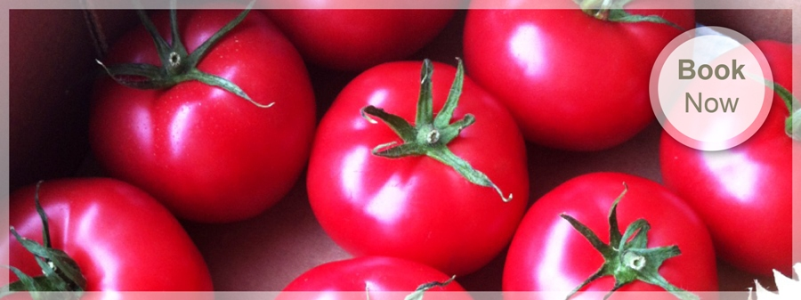 Isle of Wight tomatoes served with the Caledon Guest House breakfasts