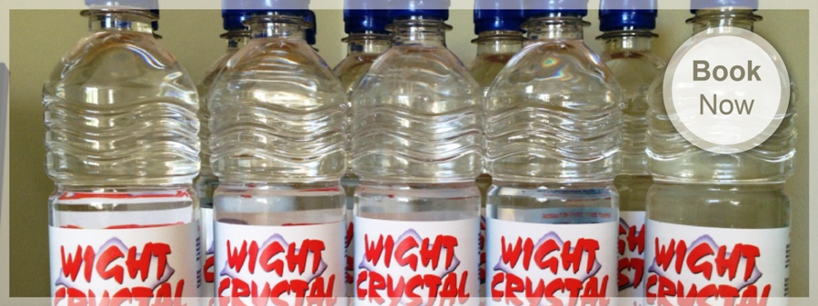 Wight Crystal Still Spring Water at The Caledon Guest House in Cowes